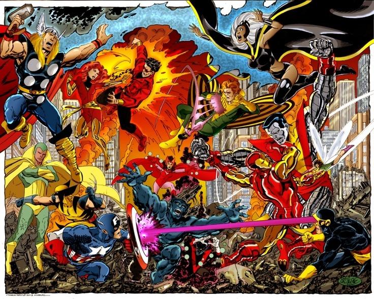 Avengers vs X-Men by John Byrne
