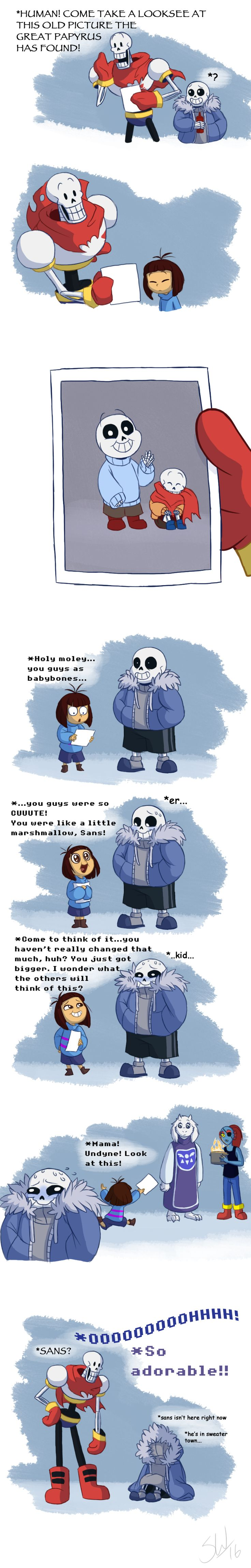 Papyrus, Sans, and Frisk - comic