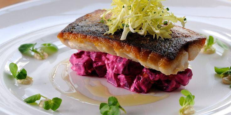 Mackerel + Beetroot, Horseradish & Watercress - Great British Chefs