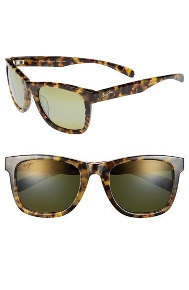 Women's Maui Jim 'Legends' 54mm Polarized Retro Sunglasses Tokyo Tortoise One Size