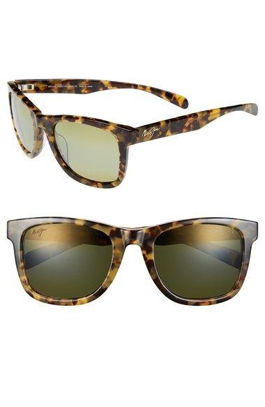 Women's Maui Jim 'Legends' 54mm Polarized Retro Sunglasses Tokyo Tortoise One Size