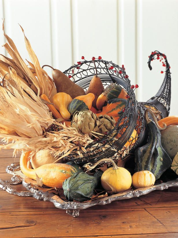 Cornucopias and other fall decorating ideas!