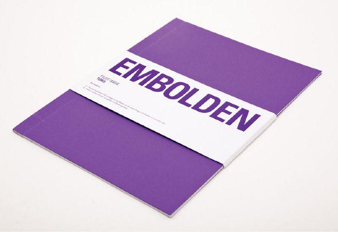 Conceptual zine cover design, EMBOLDEN.