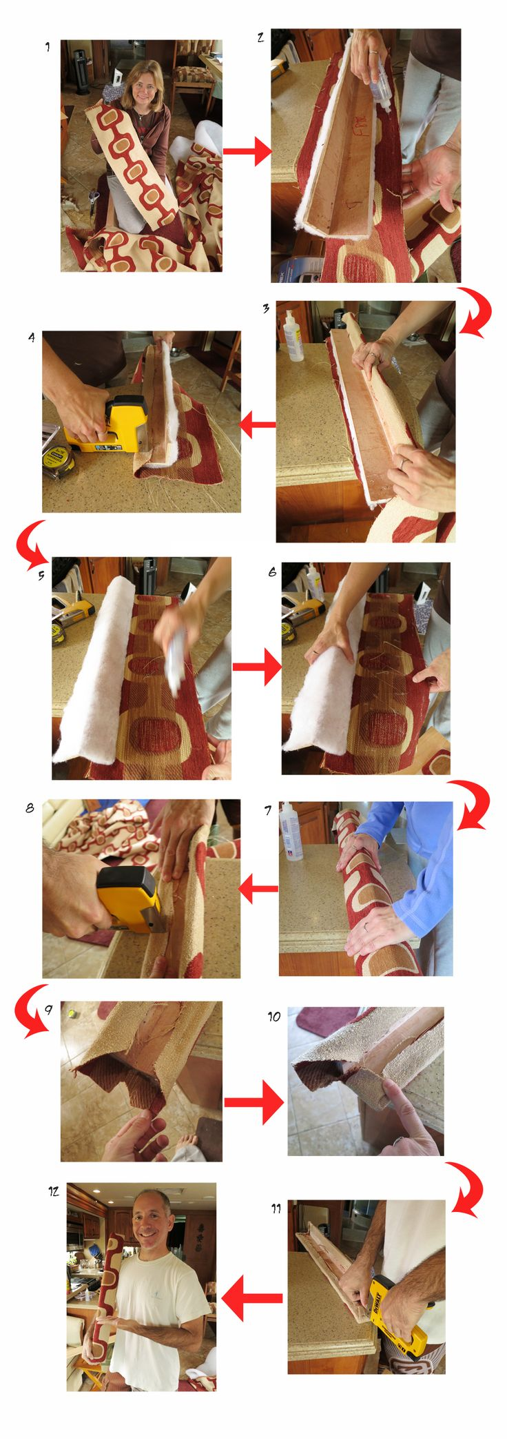 DIY reappolstering rv cornice boxes. Detailed instructions!!! Not as hard as it sounds!