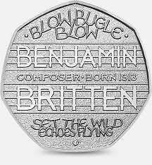 Rare 2013 #benjamin britten 50p pence - composer #100th #anniversary collectable,  View more on the LINK: http://www.zeppy.io/product/gb/2/151853039930/