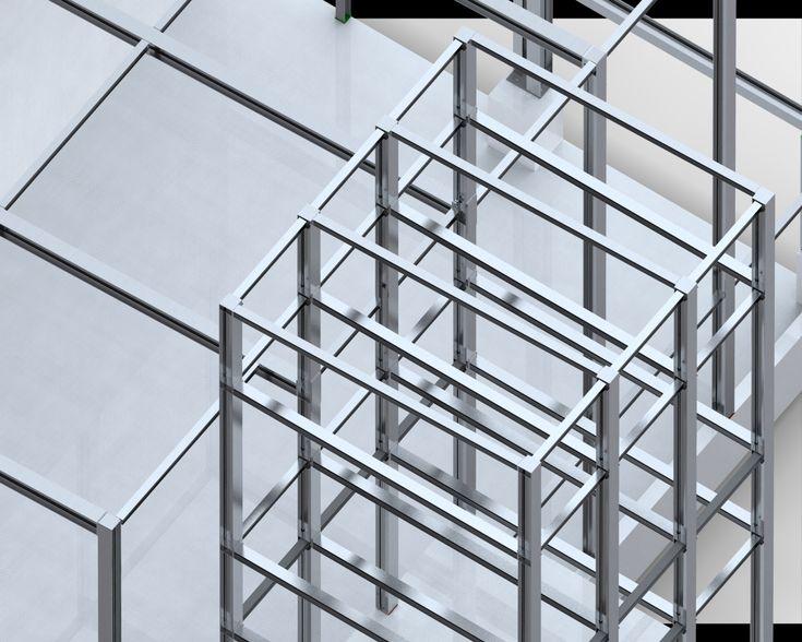 Stahlkonstruktion Für Silo Gebäude Und Getreidehalle In Perg Wird Ab Mai  2016 Montiert.