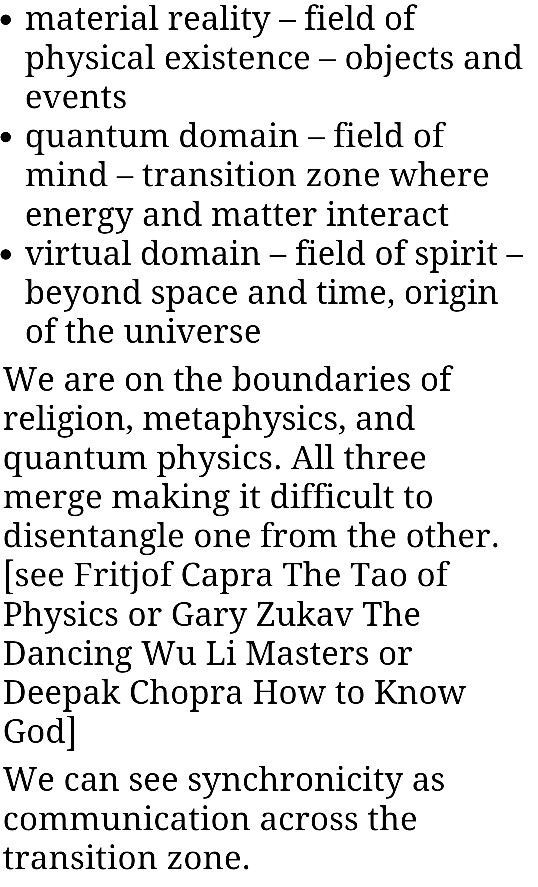 Synchronicity An Acausal Connecting Principle Metaphysics