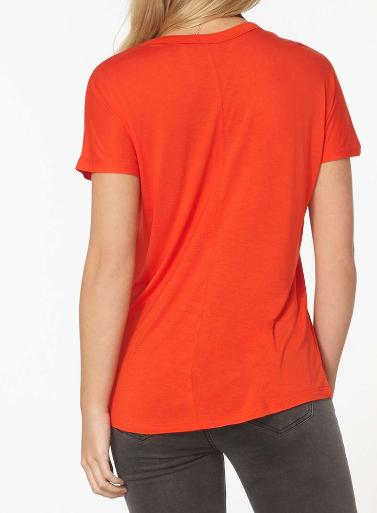 Womens Orange relaxed Tee- Orange