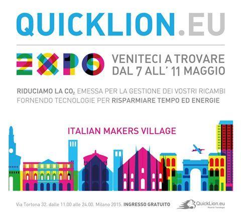 Vi aspettiamo all' EXPO dal 7 all'11 Maggio #IMV #expo2015 #expomilano #ricambicaldaie #lowemission http://www.quicklion.eu