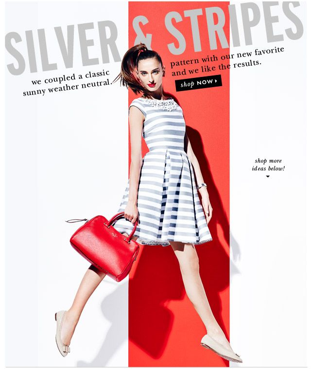 silver and stripes. shop now.