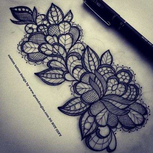 #tattoo#lace #rose