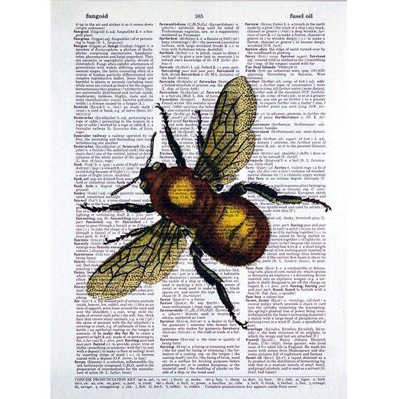 Vintage Honey Bee Print