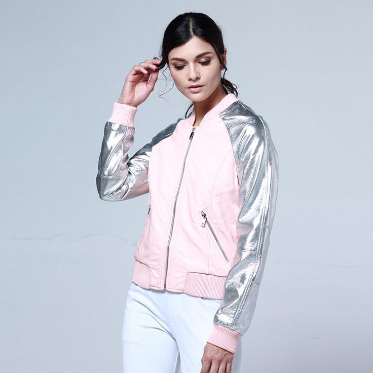 Горячая распродажа 2016 новинка весна пальто женщины искусственная кожа куртка мандарин воротник бренда пиджак рукав мотоцикл кожаные куртки