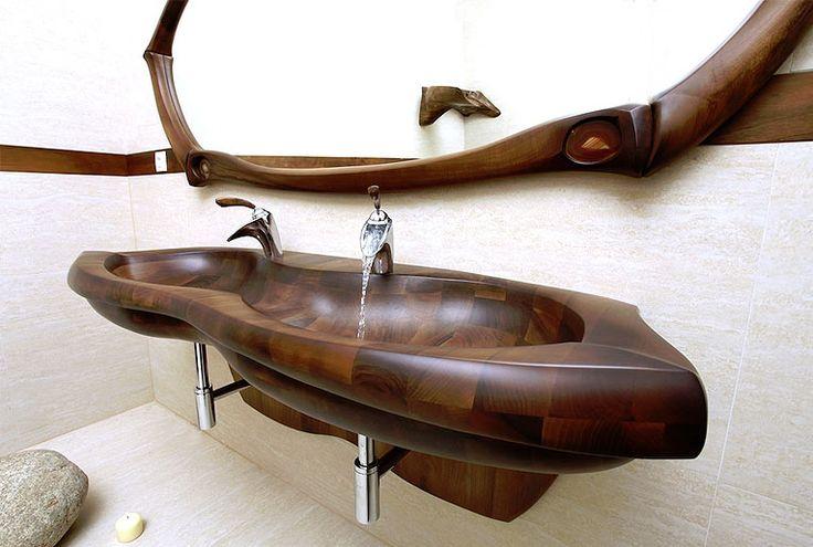 koupelnový set NIRVANA - dřevo ořech http://podlahove-studio.com/content/40-drevene-koupelny-drevene-vany-a-umyvadla