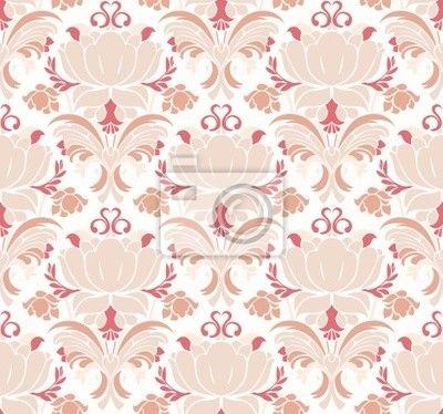 """Papier peint """"fleurir, modèle, modèle - victorienne motif floral"""" ✓ Un large choix de matériaux ✓ Impression écologique 100% ✓ Regardez des opinions de nos clients !"""