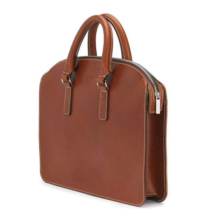Henley | Leather Briefcase | Tan | Bridle | Zip-top | Town Collection | TUSTING