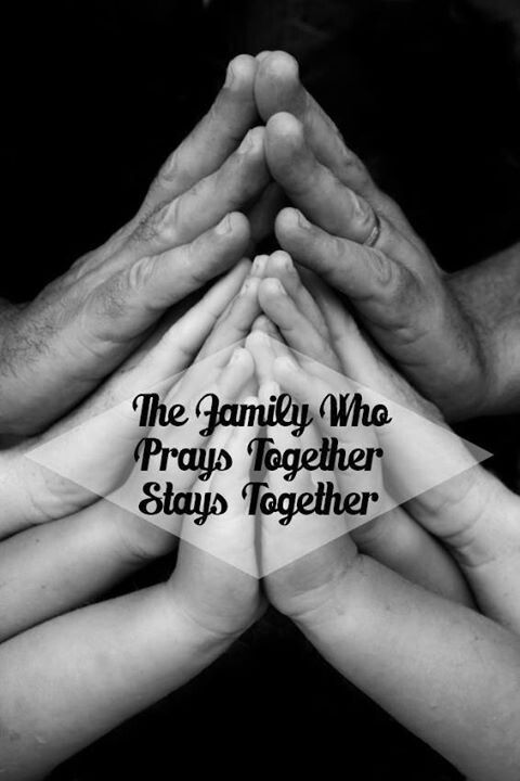 A family that prayers together stays together.