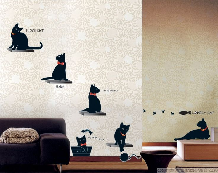 Best Galerie Stickers Chats Cats Wall Decal Gallery Images - Custom vinyl wall decals cats