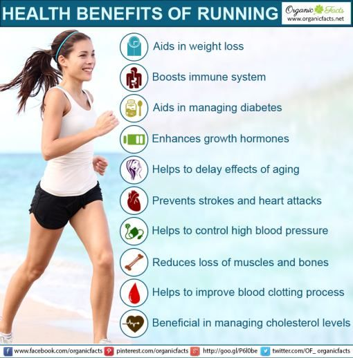 The health benefits of running include weight loss, anti-aging, prevention of muscle and bone loss, growth hormones enhancement, prevention of stroke, diabetes, hypertension, high cholesterol level, improved blood clotting, immune system, stress bursting and mood enhancement. Health benefits of running have always impressed people living in different corners of the world. Running is considered as one of the most effective exercises and there are different reasons to support this fact…