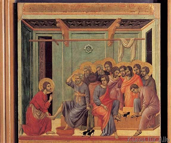 Duccio di Buoninsegna - Duccio, Fußwaschung