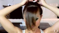 DIY Sideswept Bangs Tutorial, check it out at https://www.youtube.com/watch?v=G-4rQmE8MJs