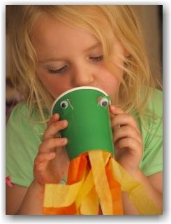 paper cup dragon. For fairytale week. :)