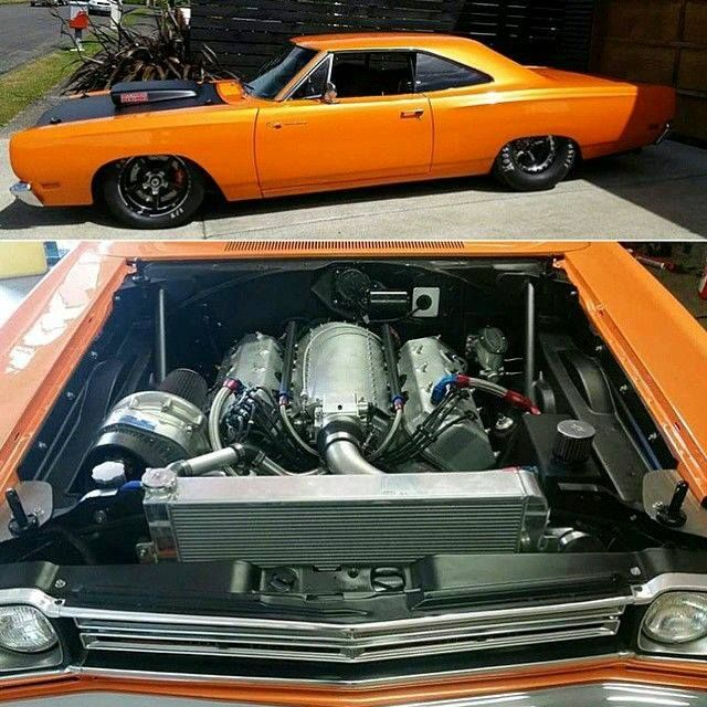 Johnny Burkhart's 1969 Plymouth Roadrunner 550ci Hemi With A Pocharger F2