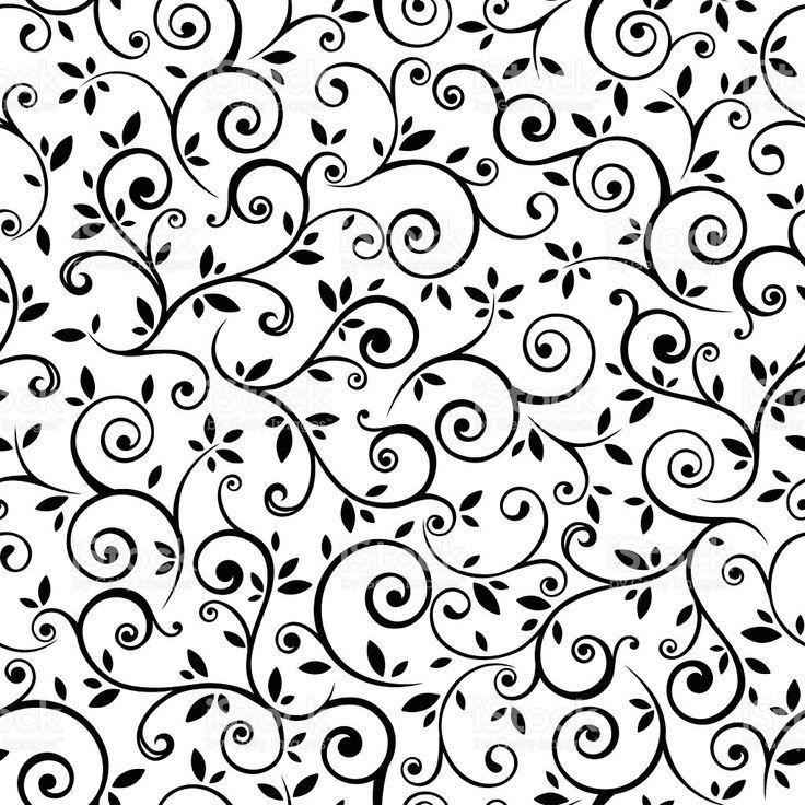 Vector Preto E Branco Vintage Seamless Black And White Floral Pattern Vector Illustration Ve Floral Pattern Vector Vintage Floral Pattern Floral Stock Images