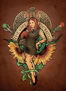 AMY POND from DOCTOR WHO!! The Girl Who Waited - Print by MeganLara