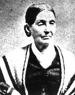 Emma Hale Smith Bidamon (July 10, 1804 – April 30, 1879) was married to Joseph Smith, Jr., until his death in 1844, and was an early leader of the Latter Day Saint movement, during Joseph Smith's lifetime and afterward as a member of the Reorganized Church of Jesus Christ of Latter Day Saints (RLDS, now the Community of Christ). She was also named in 1842 as the inaugural president of the Ladies' Relief Society of Nauvoo, a women's service organization.