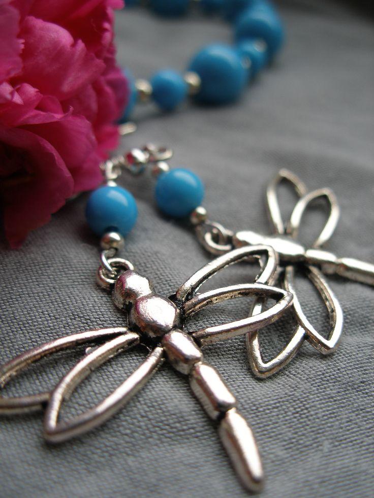 Blue dragonfly - DIY jewellery set bracelet & earrings