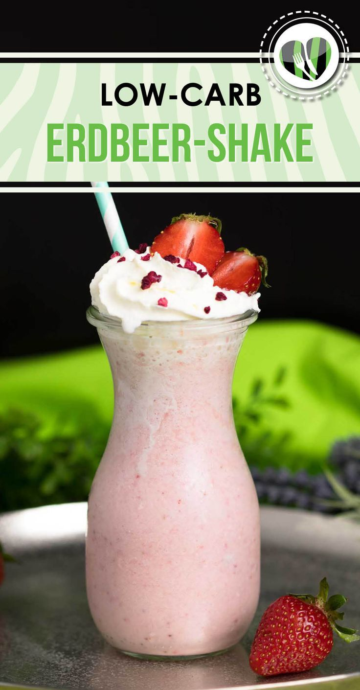 Low Carb Erdbeer-Shake | LOW CARB | Getränke | Pinterest ...