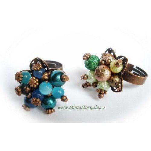 Inel handmade cu perle