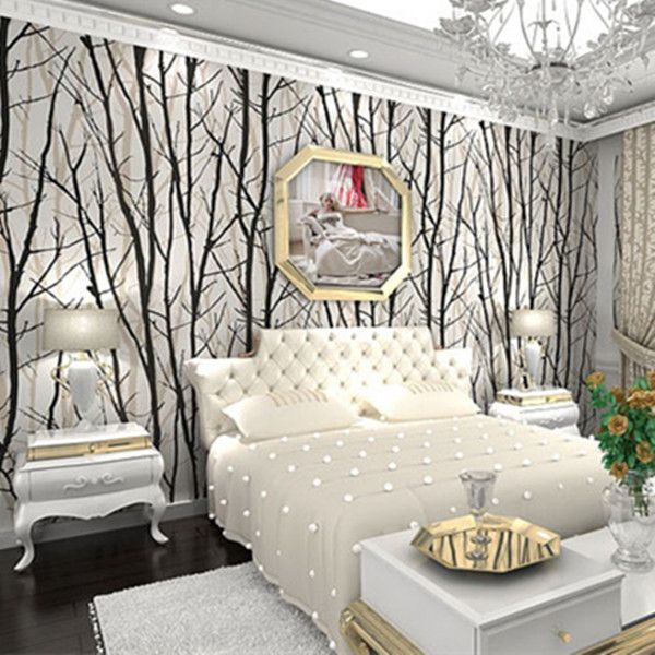 PVC White U0026 Black Bamboo Wallpaper WP13 Part 71