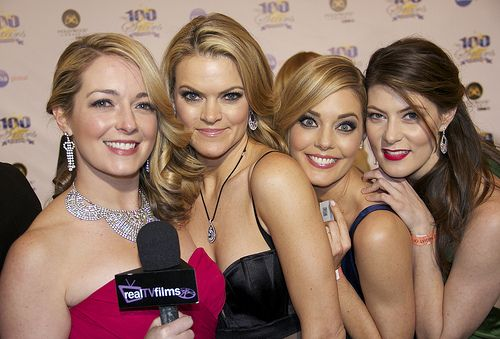 Tara Hunnewell, Missi Pyle, Christina Moore, Meredith Pyle,  Night of 100 Stars, Oscars Viewing Party