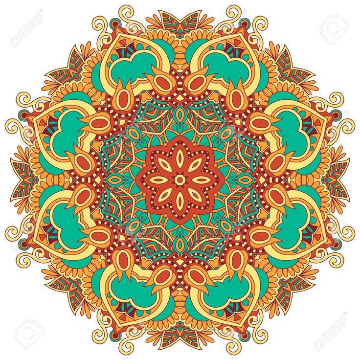 Ornamento Del Círculo, El Encaje Redondo Ornamental Ilustraciones Vectoriales, Clip Art Vectorizado Libre De Derechos. Image 16576709.