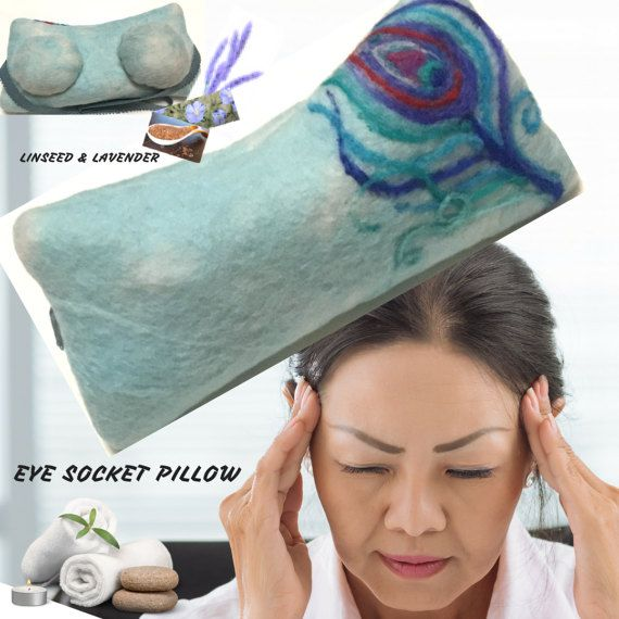 Flaxseed Eye Pillow with Organic Flaxseed Lavender Merino