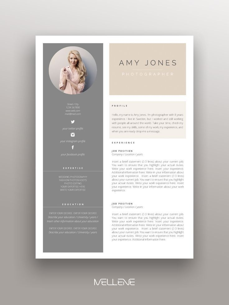 2 Page Resume Cv Design Cover Letter Free Icons And Usage Manual Professio Resume Resumeexamples Resumetem Resume Template Cv Resume Template Cv Template