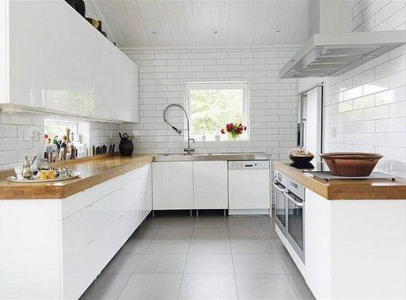 cocinas blancas con muebles blancos