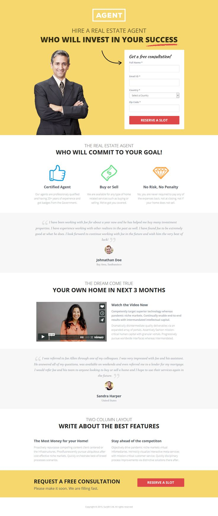 Multipurpose Landing Page Template #website #webdesign Live Preview & Download: http://themeforest.net/item/multipurpose-landing-page-template-agents/12219638?ref=ksioks