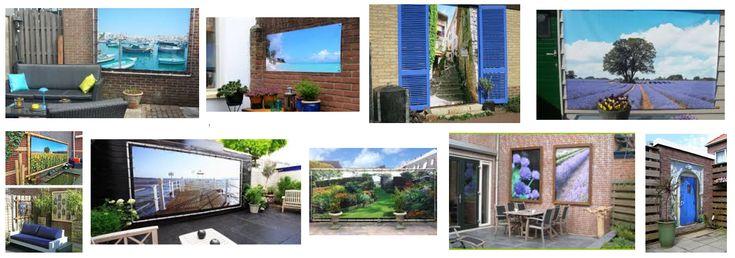 25 beste idee n over stenen afscheiding op pinterest huis buitenkant design en faux rotswanden - Buitenkant terras design ...