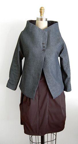 sketch jacket + volumetric pocket dress   by Martha W McQuade