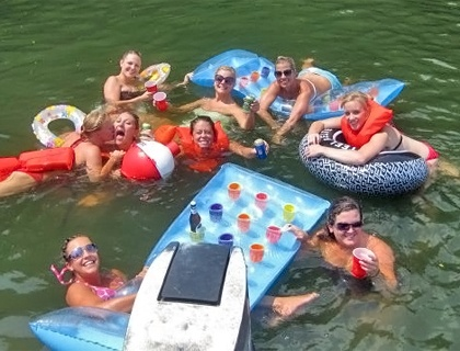 River Party for Bachelorette....I think yes <-- here it is @darlene but we have to have a floating beer pong table!