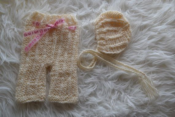 Newborn Set Newborn Pants Newborn Hat Newborn by knitbabyclothes, $30.00