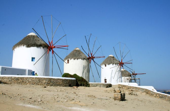 We ❤ Greece | Windmills of #Mykonos (the Island of Winds), #Cyclades #Greece #destination #travel