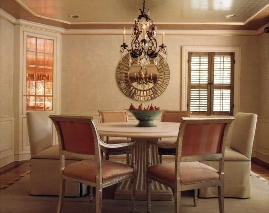 Illuminated Corner Display Cabinets In A Dining Room Greenwich CT