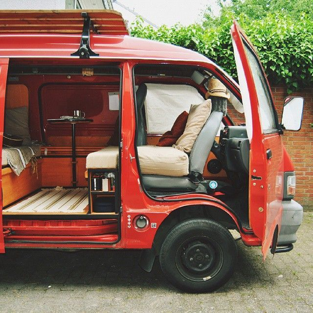 Daihatsu Hijet Covered Seats With Images Camper Van Conversion