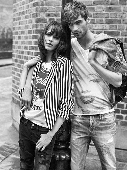 #couple #fashion #spring #summer #monochrome #vintage