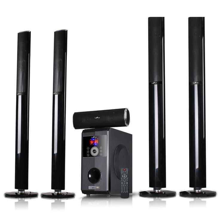 beFree Sound 5.1 Channel Surround Sound Bluetooth Speaker System-Open BOX #BFS-910-RB