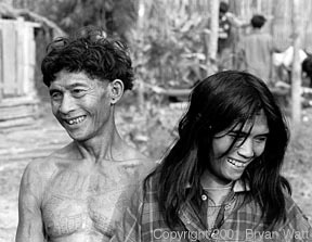 "Mlabri Man and Woman Smilling  The MLABRI tribe of #thailand and #laos are called the ""most interesting and least understood people in south east #asia """